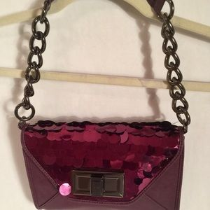 Bebe Shimmer Purple Purse